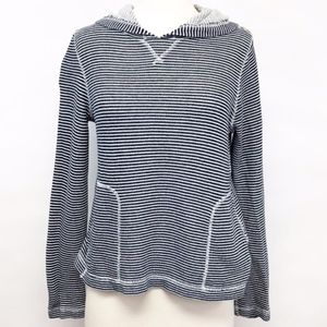 j. crew   stripe french terry hoodie sweatshirt